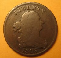 1803 DRAPED BUST HALF CENT  ORIGINAL &