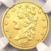1837 CLASSIC GOLD QUARTER EAGLE $2.50   NGC XF DETAILS  EF     COIN