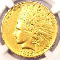1913 S INDIAN GOLD EAGLE $10 COIN   CERTIFIED NGC AU DETAILS    DATE