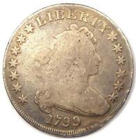 1799 DRAPED BUST SILVER DOLLAR $1 - GOOD DETAILS -  TYPE COIN