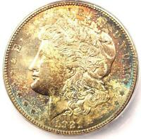 1921-D MORGAN SILVER DOLLAR $1 - ICG MINT STATE 65 -  DATE IN MINT STATE 65 - $350 VALUE