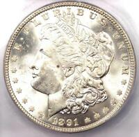 1891 MORGAN SILVER DOLLAR $1 - ICG MINT STATE 64 -  DATE IN MINT STATE 64 - $720 VALUE