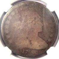 1798 DRAPED BUST SILVER DOLLAR $1 - CERTIFIED NGC FAIR DETAILS -  COIN