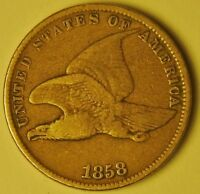 1858  FLYING EAGLE CENT, SMALL LETTER ,   AY-109