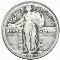 1929 STANDING LIBERTY QUARTER - GOOD OR BETTER CONDITION [106]