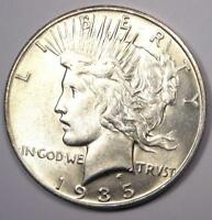 1935-S PEACE SILVER DOLLAR $1 - EXCELLENT CONDITION -  LUSTER -  DATE