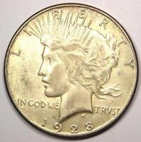 1928-S PEACE SILVER DOLLAR $1 - EXCELLENT CONDITION -  LUSTER -  DATE