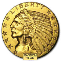 $5 INDIAN GOLD HALF EAGLE  CLEANED    SKU 23212