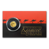 2017 AUSTRALIA 1/2 GRAM GOLD KANGAROO MINI ROO BU  ASSAY CARD