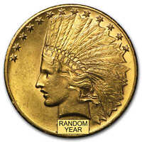 $10 INDIAN GOLD EAGLE BU  RANDOM YEAR