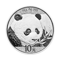 2018 CHINA 30 G SILVER PANDA 10 COIN GEM BU SKU50469