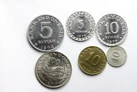 FAO / F.A.O.  INDONESIA    LOT OF 6 COINS   UNCIRCULATED