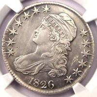1826 CAPPED BUST HALF DOLLAR 50C O 118A   NGC AU DETAILS    CERTIFIED COIN
