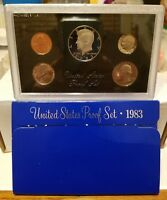 1983 UNITED STATES MINT PROOF SET IN ORIGINAL PACKAGING 5 COIN SET  REAL NICE
