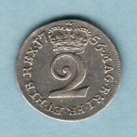 GREAT BRITAIN. 1756   GEORGE  11 TWOPENCE.. EF/AEF