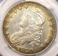 1830 CAPPED BUST HALF DOLLAR 50C RAINBOW   PCGS XF40    CERTIFIED COIN