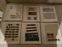OLD US STAMPS  LOT OF 6 PAGES