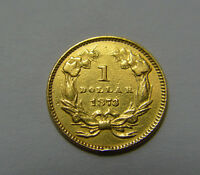 1873 $1 LIBERTY LARGE HEAD ONE DOLLAR GOLD TYPE 3 COIN OPEN 3