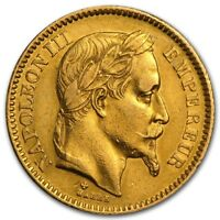 FRANCE GOLD 20 FRANCS NAPOLEON III AVG CIRC   SKU 161220