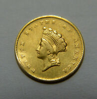 1855 $1 LIBERTY SMALL HEAD INDIAN PRINCESS ONE DOLLAR GOLD TYPE 2 COIN