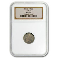 1795 FLOWING HAIR HALF DIME MINT STATE 65 NGC - SKU 105117