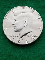 1992 S   KENNEDY HALF DOLLAR  CAMEO   UNCIRCULATED  PROOF