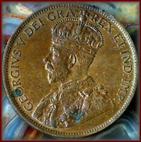 1919 CANADIAN PENNY  LUSTROUS BROWN UNCIRCULATED  A AFFORDABLE BUY $10.00