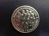 2003 AUSTRALIA 20C VOLUNTEERS MAKING A DIFFERENCE   CIRCULATED 20 CENT COIN