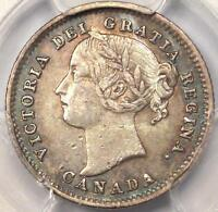 1885 CANADA VICTORIA 10 CENT  10C  COIN   CERTIFIED PCGS XF45  EF45