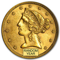 $5 LIBERTY GOLD HALF EAGLE BU  RANDOM YEAR    SKU159869