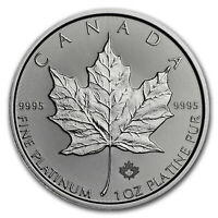 2018 CANADA 1 OZ PLATINUM MAPLE LEAF BU   SKU153417