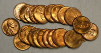 PARTIAL UNCIRCULATED ROLL, 23 COINS, 1947-D LINCOLN CENTS,  BUS  0328-26