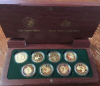 SYDNEY 2000 OLYMPIC GOLD  8 COIN SET COLLECTION