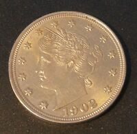 1902 5C LIBERTY NICKEL UNCIRCULATED