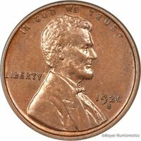 1920-S LINCOLN WHEAT CENT CENT 1C 2530.F2665 UNC  UNCIRCULATED  CLEANED