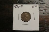 1931-D LINCOLN CENT EF