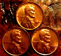 1944,1946,1948 BU WHEAT CENT LINCOLN CENT SET  ANTIQUE USA COIN  948A