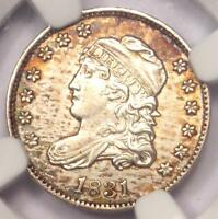 1831 CAPPED BUST HALF DIME H10C - NGC UNCIRCULATED DETAILS -  MS BU COIN