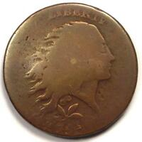 1793 FLOWING HAIR WREATH LARGE CENT 1C -  COIN