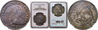 1796 BUST DOLLAR NGC EXTRA FINE -45 LARGE DATE, SMALL LETTERS BB-65, B-5