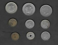 SPAIN   9 MIXED COINS LOT   NICE STARTER SET