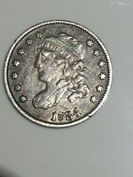 1834 CAPPED BUST HALF DIME SILVER COIN