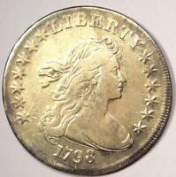 1798 DRAPED BUST SILVER DOLLAR $1 - VF/EXTRA FINE  DETAILS -  TYPE COIN
