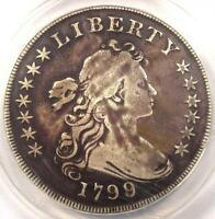 1799/8 DRAPED BUST SILVER DOLLAR $1 - CERTIFIED ANACS F15 DETAILS -  COIN