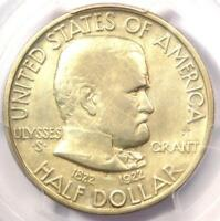 1922 STAR GRANT SILVER HALF DOLLAR 50C - PCGS FINE DETAIL -  CERTIFIED COIN