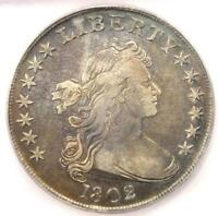 1802 DRAPED BUST SILVER DOLLAR $1 - CERTIFIED ICG EXTRA FINE 45 EF45 - $4,800 VALUE