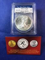 2013 W SILVER EAGLE PCGS MS 70 ICE WHITE FLAWLESS