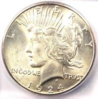 1924-S PEACE SILVER DOLLAR $1 - CERTIFIED ICG MINT STATE 64 -  IN MINT STATE 64 - $1,440 VALUE