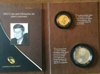 2015 JOHN F. KENNEDY COIN & CHRONICLES SET REVERSE PROOF DOLLAR & SILVER MEDAL