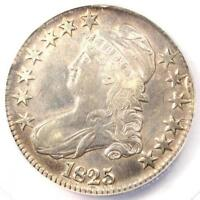 1825 CAPPED BUST HALF DOLLAR 50C  ANACS EXTRA FINE 45 DETAILS EF45 -  COIN
